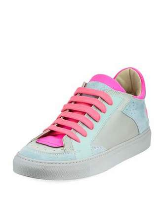 Maison Margiela Neon Low-Top Lace-Up Sneakers