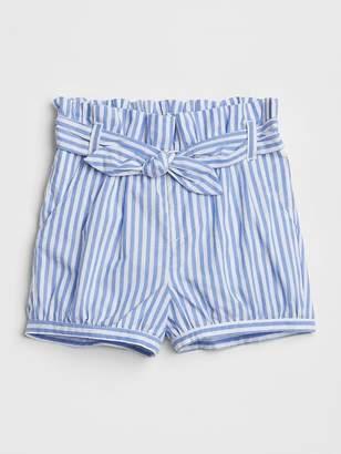Gap Stripe Tie-Belt Bubble Shorts
