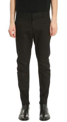 Lanvin Motorcycle Black Cotton Pants