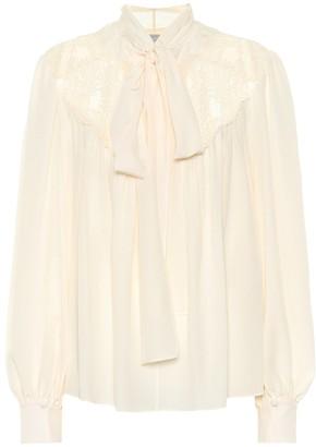 Stella McCartney Silk crepe de chine blouse