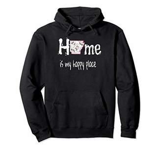 Home Is My Happy Place Arkansas Floral Hoodie Sweatshirt