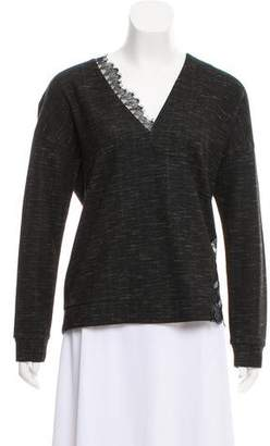 Thakoon Long Sleeve V-Neck Top