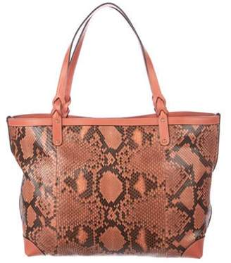Gucci Python Craft Tote Coral Python Craft Tote