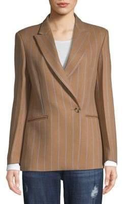 Sandro Mazarine Striped Wool-Blend Blazer