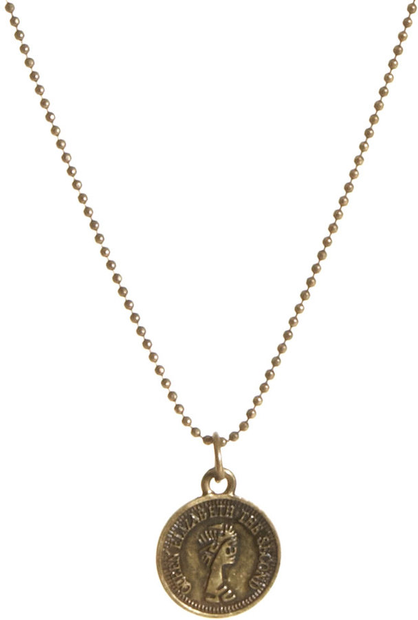 Just Acces Rivo Coin Pendant Necklace