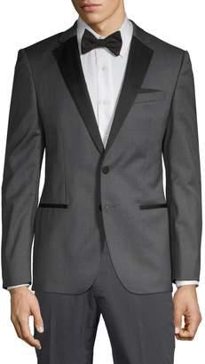 HUGO BOSS Classic-Fit Wool & Silk Blend Jacket