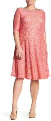 Sangria Lace Fit & Flare Dress (Plus Size) $95 thestylecure.com