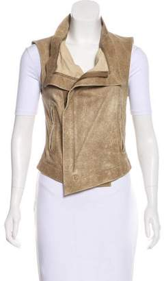 Veda Asymmetrical Leather Vest
