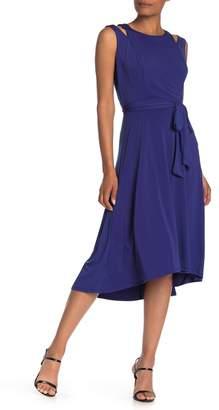 ECI Cold Shoulder High/Low Dress