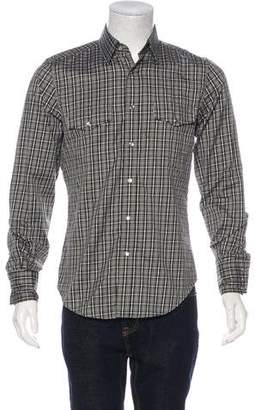 Tom Ford Plaid Snap-Front Shirt