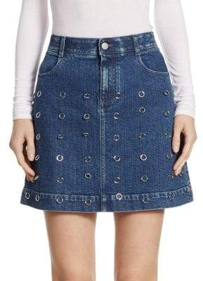 Stella McCartney O-Ring Embellished High Waist Skirt