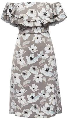 Banana Republic Petite Floral Off-the-Shoulder Dress