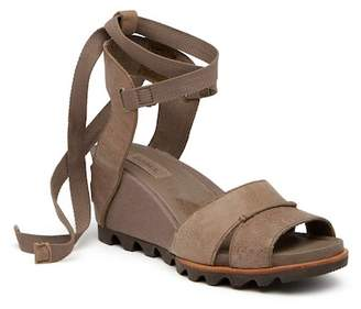 Sorel Joanie Leather Wrap Sandal