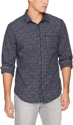 Calvin Klein Jeans Men's Long Sleeve Space Dyed Check Button Down Shirt,