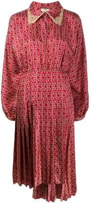 Fendi Grille Royal print twill dress