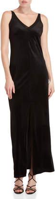 Romeo & Juliet Couture Romeo + Juliet Couture Black Velvet Maxi Slip Dress