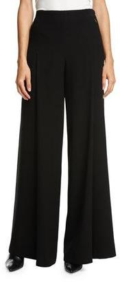 Elie Tahari Reese Wide-Leg Zip-Pocket Pants, Black $328 thestylecure.com