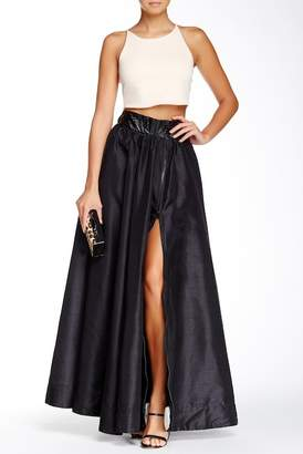 TOV Faux Leather Waist Front Zip Maxi Skirt $108 thestylecure.com