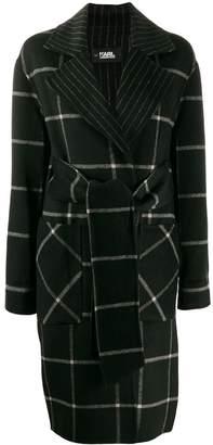 Karl Lagerfeld Paris check print coat
