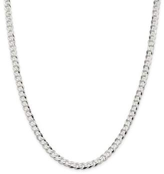 Jewelrypot Sterling Silver 8in 5.75mm Close Link Flat Men's Curb Chain Bracelet