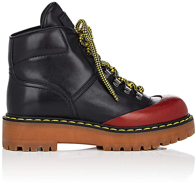 Prada Women's Leather Hiker Boots