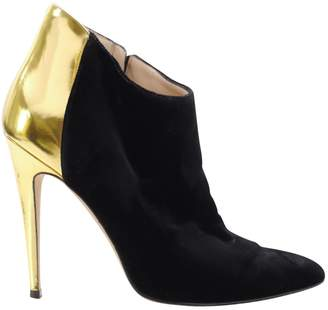 Manolo Blahnik Black Velvet Ankle boots