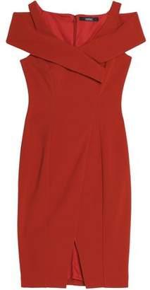 Badgley Mischka Cold-Shoulder Ponte Dress