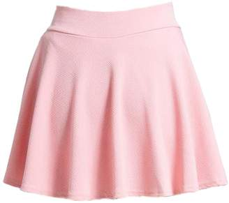 Moxeay Basic Versatile Stretchy Flared Skater Skirt Casual Mini Dress (Asia, )