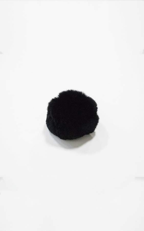 Ily Couture Black Pom Pom Clip
