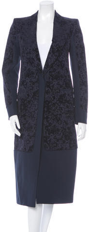CelineCéline Floral Flocked Coat w/ Tags