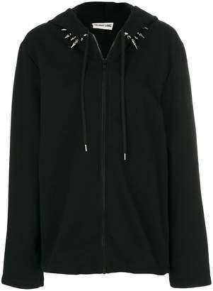 Helmut Lang spike collar zipped hoodie