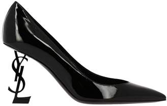 9506fb07ec26 Saint Laurent Pumps Opyum Shoes Pumps In Patent Leather With Tone-on-tone  Structured