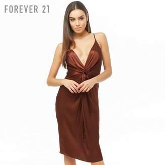Forever 21 (フォーエバー 21) - Forever 21 フロントツイストサテンキャミワンピース