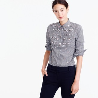Collection Thomas Mason® for J. Crew embellished gingham button-up shirt $498 thestylecure.com