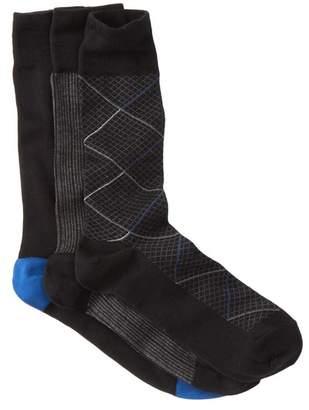 Cole Haan Modern Diamond Crew Socks - Pack of 3