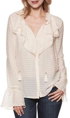 Paige Silvette Ruffle Silk Blouse