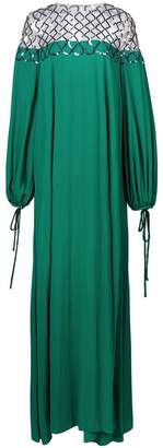 Oscar de la Renta lattice embroidered shift dress