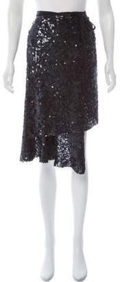 Ann Demeulemeester Sequined Silk Skirt