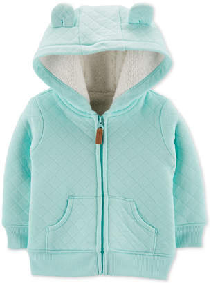 Carter's Carter Baby Boys Quilted Fur-Lined Hoodie