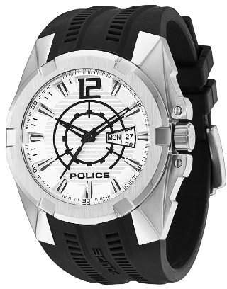 Police Men's 'Radical' Quartz Stainless Steel and Rubber Casual Watch