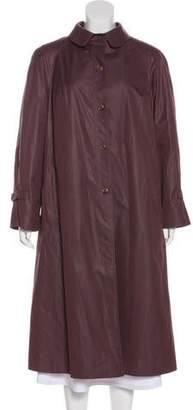 Neiman Marcus Button-Up Trench Coat