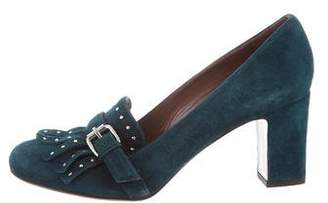 Tabitha Simmons Kiltie Stud-Accented Pumps