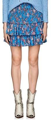 Etoile Isabel Marant Women's Naomi Floral Cotton Voile Miniskirt - Blue