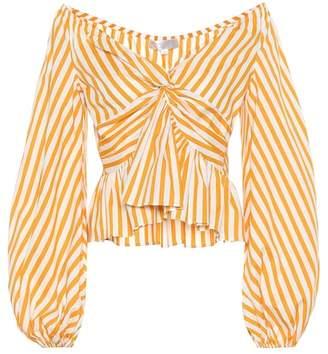 Caroline Constas Onira striped stretch cotton top