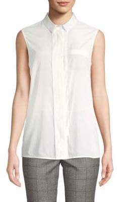 Peserico Sleeveless Blouse With Beaded Trim