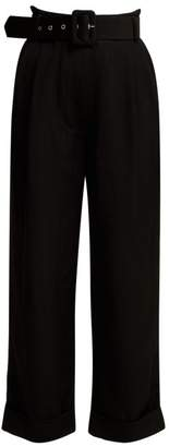 Isa Arfen High Rise Cropped Trousers - Womens - Black
