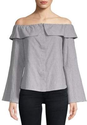 Lovers + Friends Jane Cotton Off-the-Shoulder Blouse