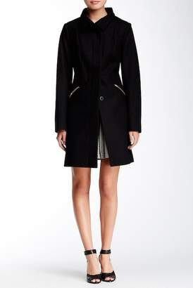 Via Spiga Ladylike Stand Collar Wool Blend Coat $275 thestylecure.com