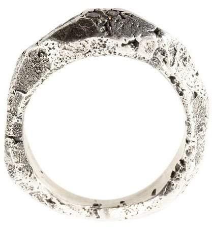 Tobias Wistisen Silberring mit grauem Diamanten