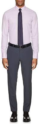 Armani Collezioni MEN'S PUPPYTOOTH COTTON DRESS SHIRT - LILAC SIZE 16